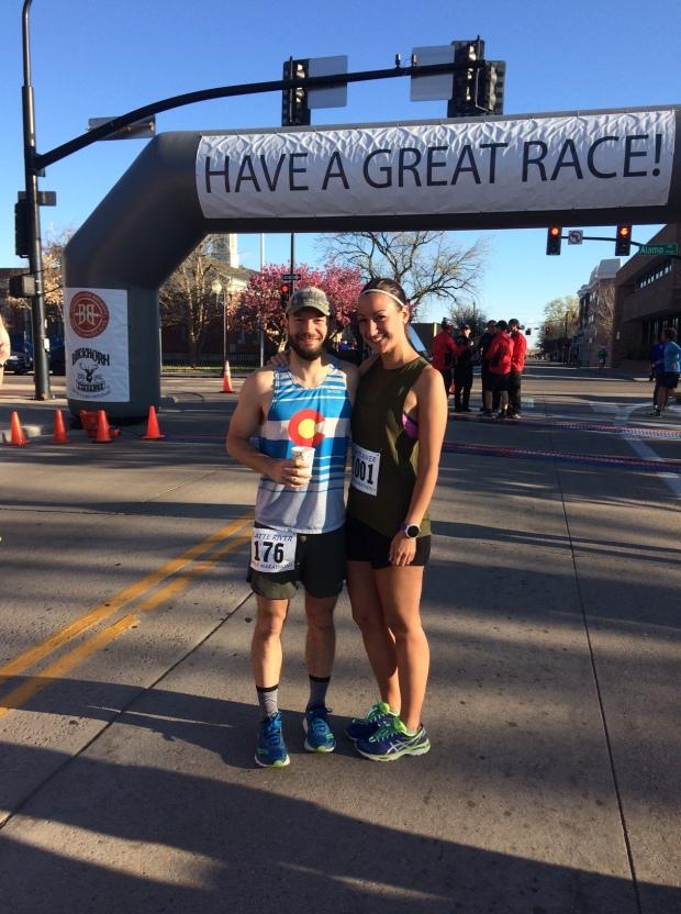 Platte River Half Marathon at the start line