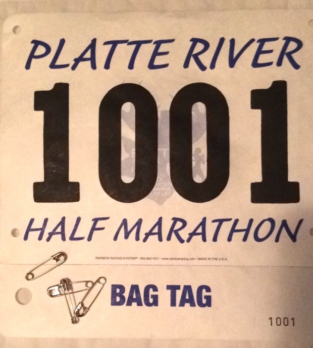 Platte River Half Marathon race bib