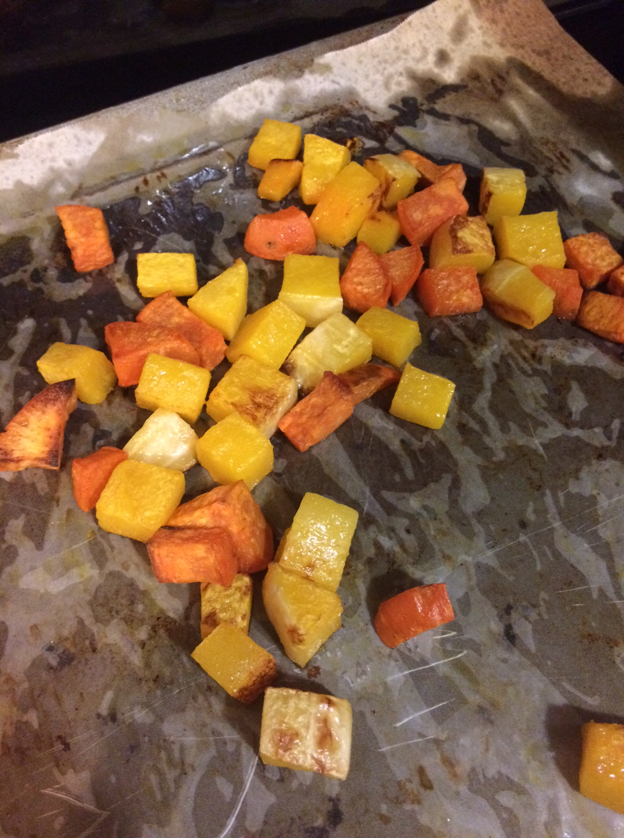 Roasted butternut squash and sweet potatoes.JPG