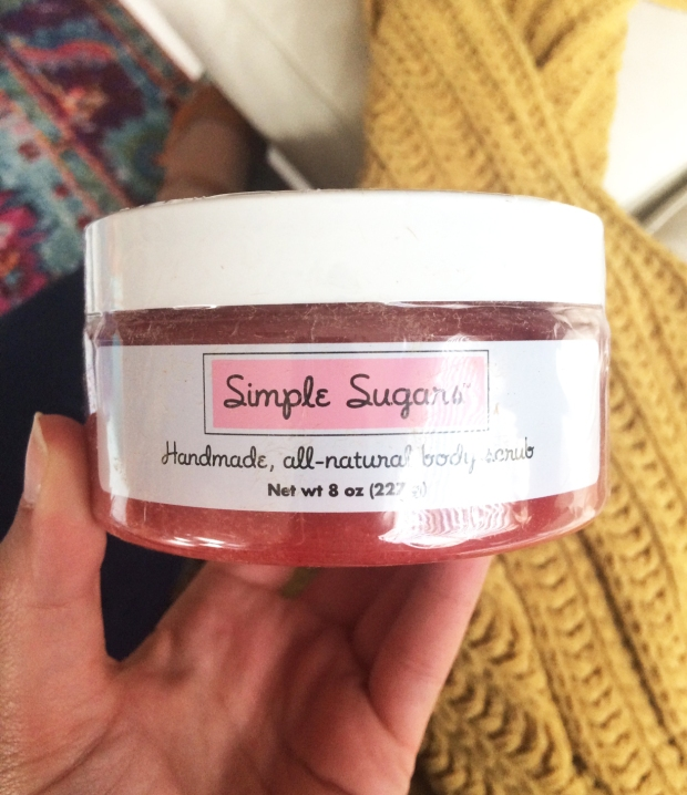 Strawberry Simple Sugars salt scrub