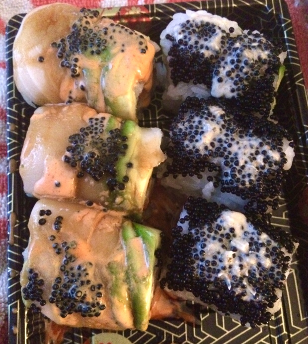 Taki sushi takeout 1 after the Platte River Half Marathon