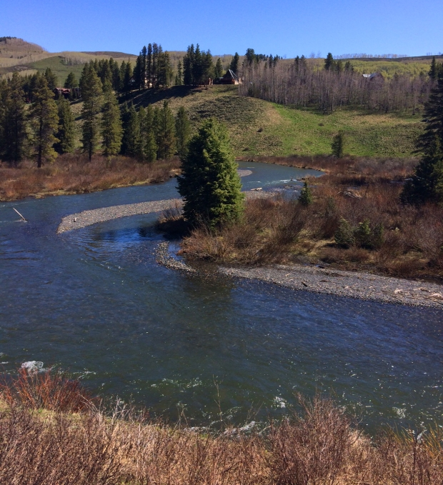 Bend in water, Lower Loop Trail, Crested Butte, Colorado