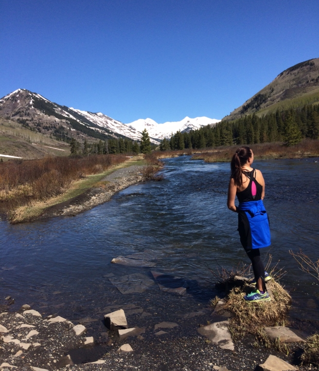 Me at scenic spot, Lower Loop Trail, Crested Butte, Colorado