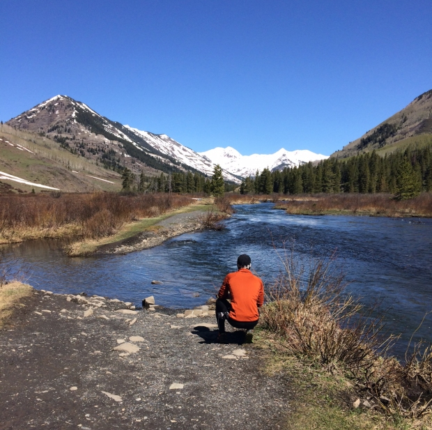 Nick at scenic spot, Lower Loop Trail, Crested Butte, Colorado