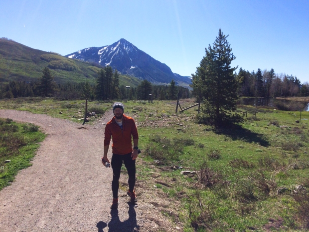 Nick running Lower Loop Trail, Crested Butte, Colorado