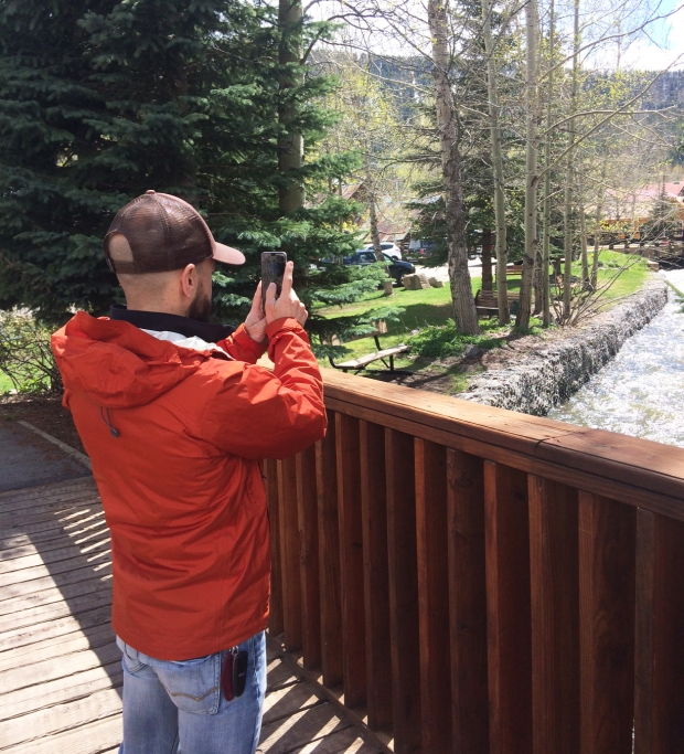 Nick taking a photo of Coal Creek, Crested Butte