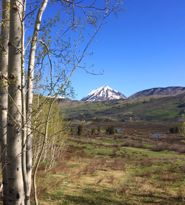 View of mountain from Lower Loop Trail, Crested Butte, Colorado