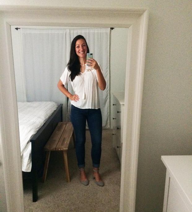 Stitch Fix for Summer_Jenti Shoulder Slit Top