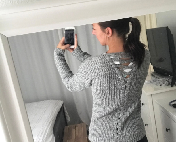 Alijah Lace Up Back Detail Pullover by Madison Lily, Stitch Fix