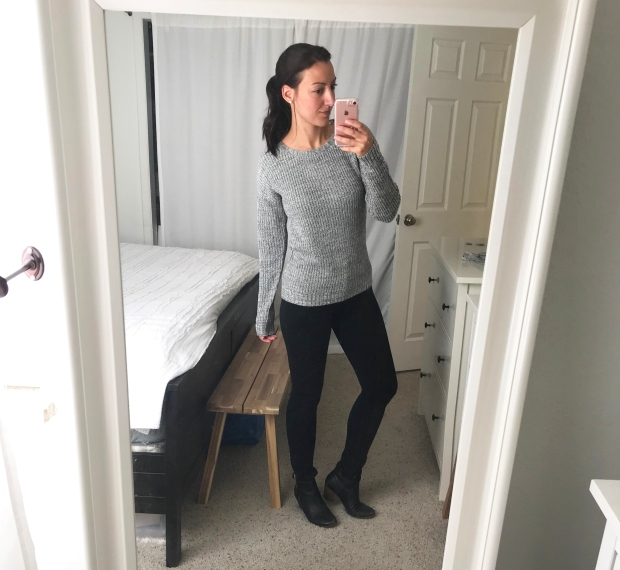 Zoe Essential Ankle Zip Skinny Pant by 41 Hawthorn with Alijah Lace Up Back Detail Pullover by Madison Lily, Stitch Fix outfit